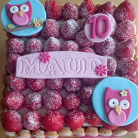 vierkante taart Maud